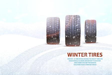 Winterbanden van hoge kwaliteit Commercieel met slogan