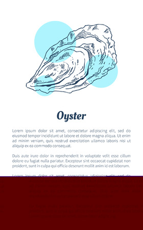 Oyster Marine Creature Hand Drawn Poster with Text