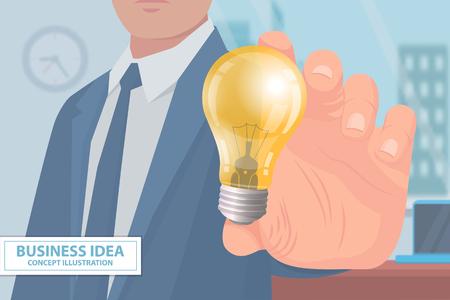 Vector de cartel de ilustración de concepto de idea de negocio