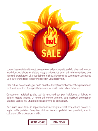 Hot Sale Best Offer Round Badge with Flame Splash