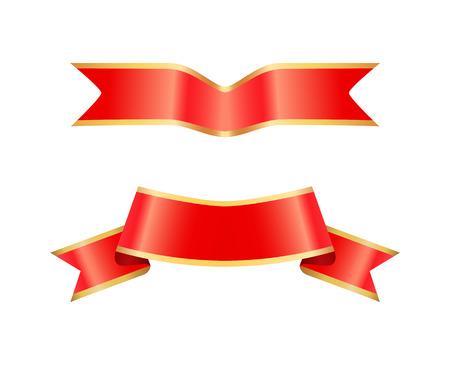 Ribbon Icons of Banners Set Vector Illustration 版權商用圖片