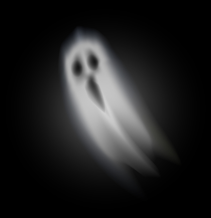 Ghost of halloween with opened mouth and scary eyes isolated icon vector. Dark creature from outer world, soul of dead person haunting evil spirit