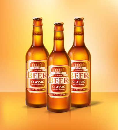 Beer Classic Types of Alcoholic Beverage Vector Illustration