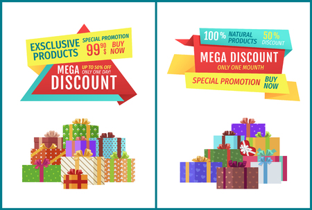 Special Offer Hot Price Set Vector Illustration