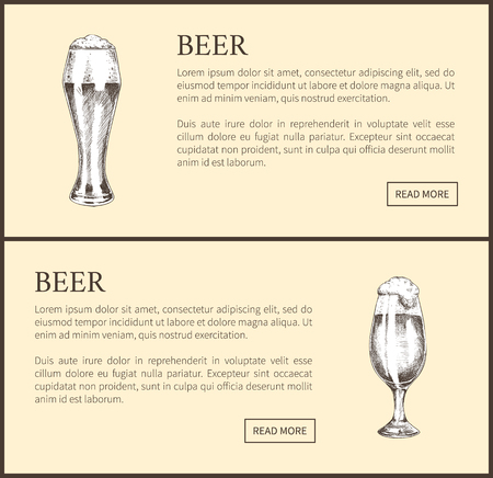 Beer Objects Set Hand Drawn Vector Sketches. 版權商用圖片