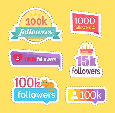 Follow and Followers Information Numbers Vector Illustration