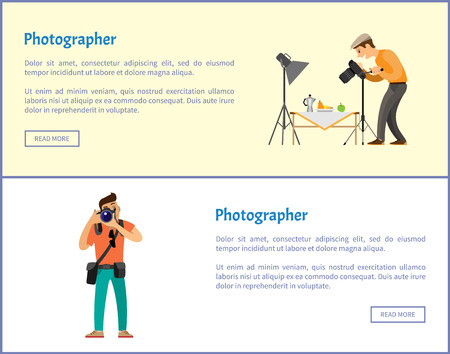 Still Life Photographer and Journalist Banners Set
