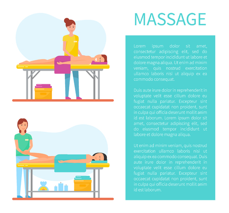 Back and Foot Massage Poster with text Vector