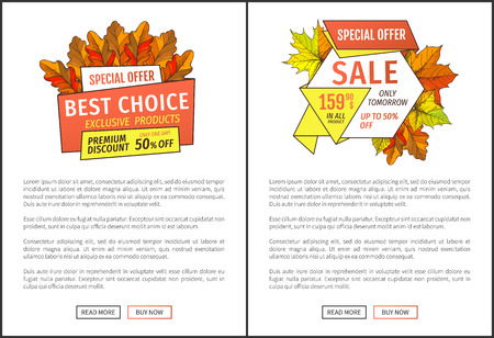 Special Exclusive Offer Buy Poster with Oak Leaves Stock Photo
