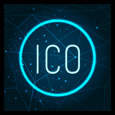 Ico Digital Virtual Money Financing Icon Vector