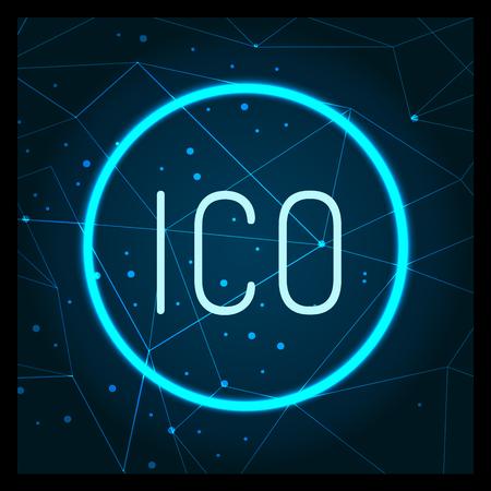 Ico Digital Virtual Money Financing Icon Vector