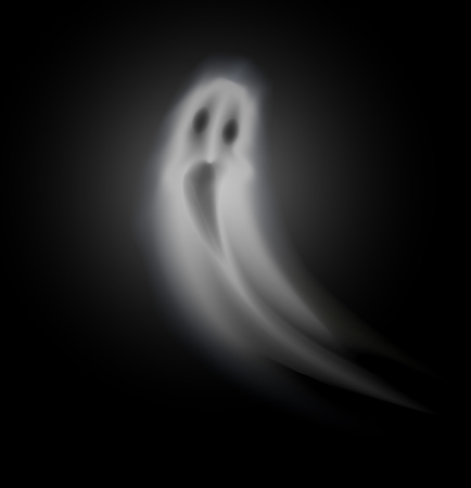 Ghost of Halloween Poltergeist Isolated Vector