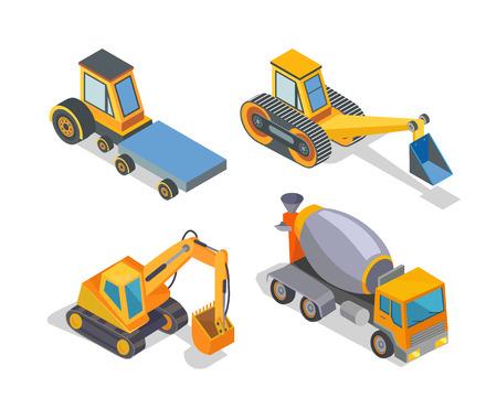 Machine de construction, icônes de machines de construction