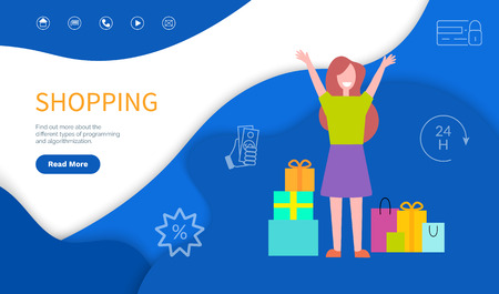 Shopping, find out different types of programming and algorithmization. Concentrate on work under consideration stuctures of site vector, woman and packages
