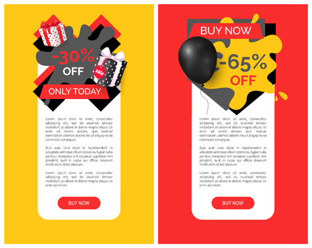 Shop Store Sale Vector Web Site Template. Buy Now