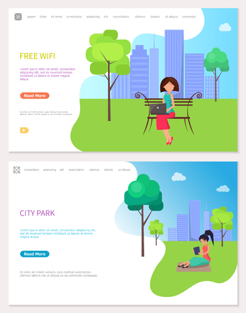 Free Wife Zone and City Park Web Posters. Woman