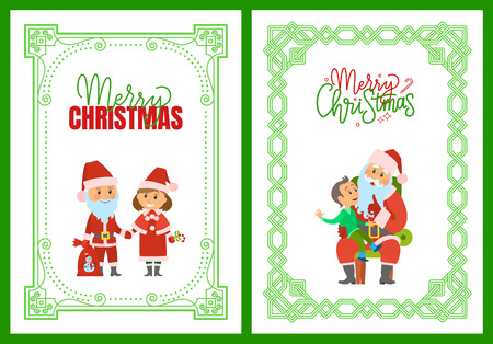 Merry Christmas Winter Holidays, Characters Frames