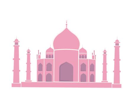 Taj Mahal indiano Landmark viaggio adesivo isolato