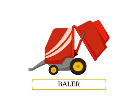 Baler Agricultural Device Vector Illustration