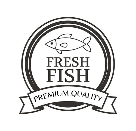 Premium Quality Fresh Fish Advertising Black Label