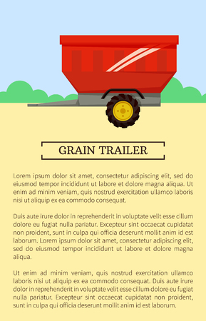 Agricultural Machinery Icon, Cartoon Vector Banner Ilustración de vector