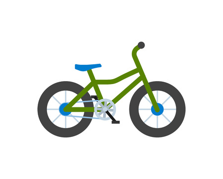 Bicycle Closeup, Bike with Wheels Isolated Icon Imagens