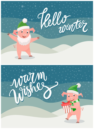 Hello Winter Warm Wishes, Christmas Year Greeting