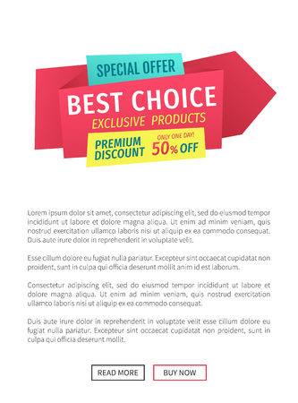 Special Offer Best Choice Vector Illustration
