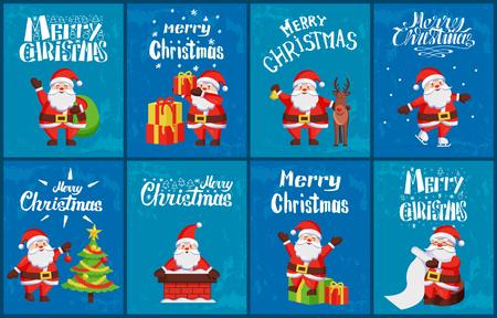 Congratulation Merry Christmas Santa Card Vector