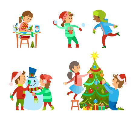 Christmas Holidays Fun, Evergreen Tree Decoration