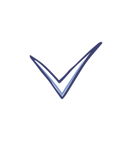 Check mark and tick used in voting icon vector. Agreement point used in votes to show ok sign. Approval in checkbox, agree good positive decision Illustration