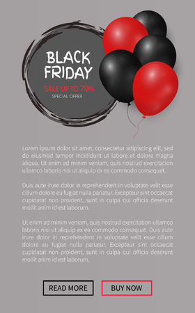 Black Friday, Helium Inflatable Balls, Sale Label