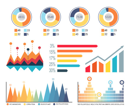 Infographics and Diagrams, Flowcharts Information Illustration