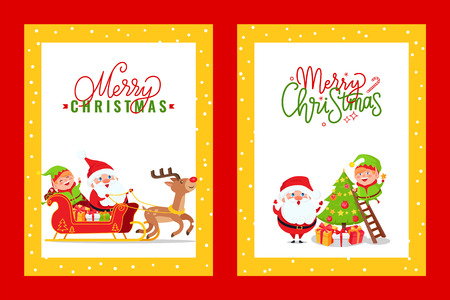 Greeting Cards with Holiday Spirit and Cartoon Heroes