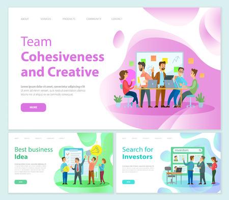 Teamzusammenhalt und Kreativität der Mitarbeiter Mitarbeiter