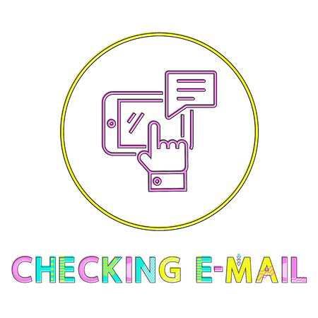 Checking Email Round Minimalistic Linear Icon