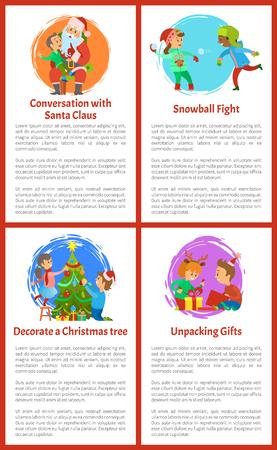 Conversation with Santa Claus Christmas Holidays Ilustracja