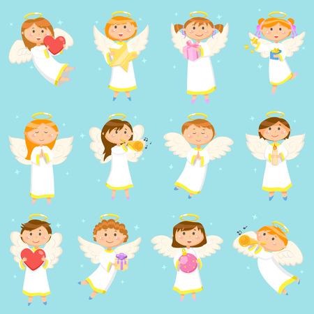 Vacances d'hiver pour enfants, garçons et filles d'ange