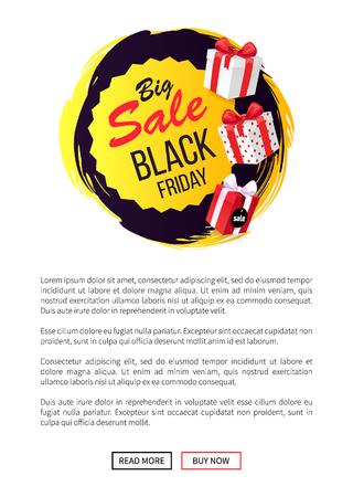 Big Sale Black Friday Autumn Sellout of Shops Illustration