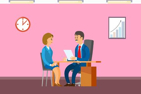 Rozmowa kwalifikacyjna z szefem, zatrudnianie nowego pracownika biurowego
