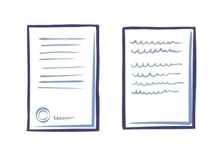 Modèle de documentation commerciale, lettre d'application Web