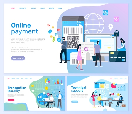 Online Payment and Transaction Security Pages Çizim
