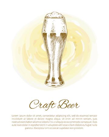 Craft Beer Glass on Color Plash Poster Illusztráció