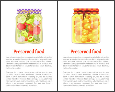 Preserved Food Posters with Fruits or Vegetables