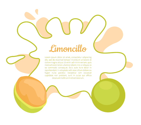 Limoncillo fruit whole and cut poster frame for text vector. Melicoccus bijugatus, Spanish lime, genip guinep, genipe and ginepa, quenepa, quenepe, chenet Reklamní fotografie - 126588817