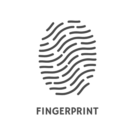 Fingerprint verification poster text sample vector. Fingermark and thumbprint, dactylogram authorization process. Recognition of human personal data