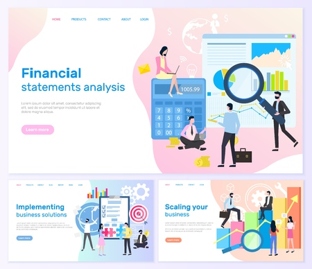 Financial Statements, Business solutions Banners