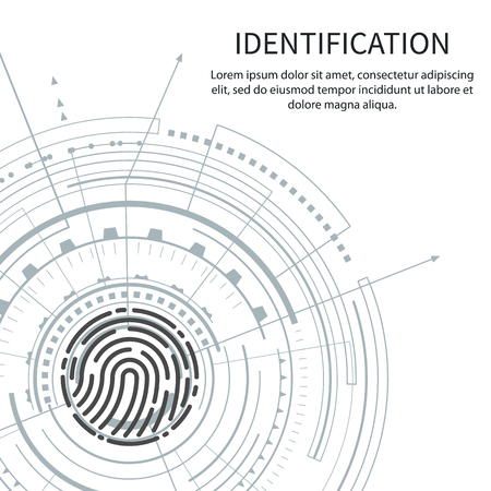 Identification Poster with Text Sample Vector