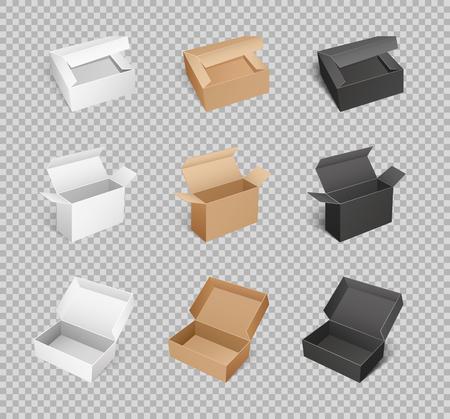 Box Cardboard Carton Parcels Packaging Vector