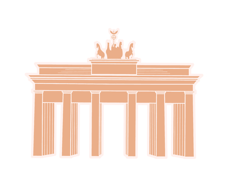 Great Triumphal Arch of Germany Travel Sticker